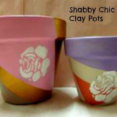 Shabby Chic Clay Pot Tutorial