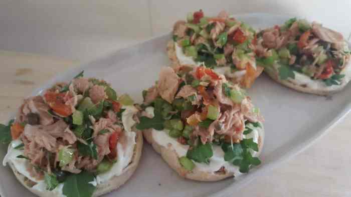 Sicilian tuna salad sandwich giadas italy 4 bagels