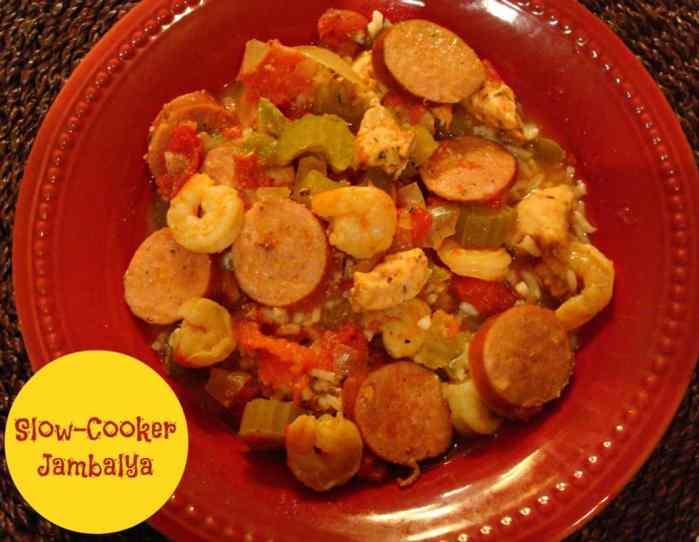 Slow-Cooker Jambalya #Recipe #mardigras