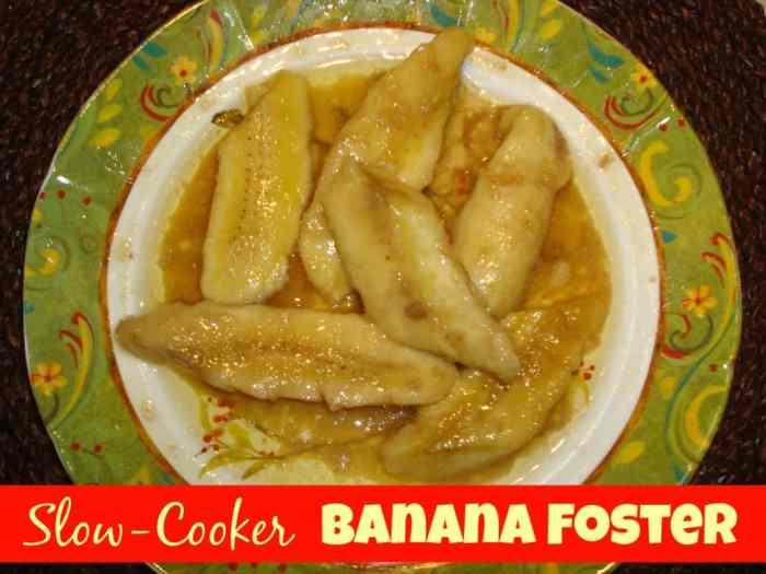 Slow-Cooker banana foster #recipe #mardigras #Dessert