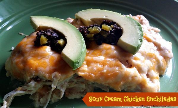Sour Cream Chicken Enchiladas Recipe