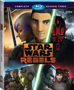 Star Wars Rebels Season Three on Blue Ray