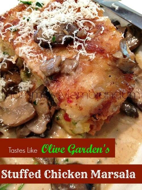 Copycat Olive Garden S Stuffed Chicken Marsala Recipe