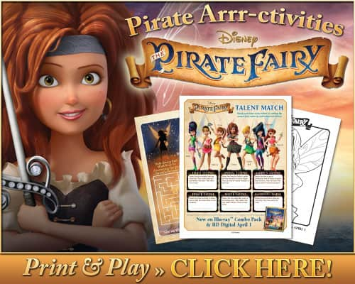 The pirate fairy free printable activities