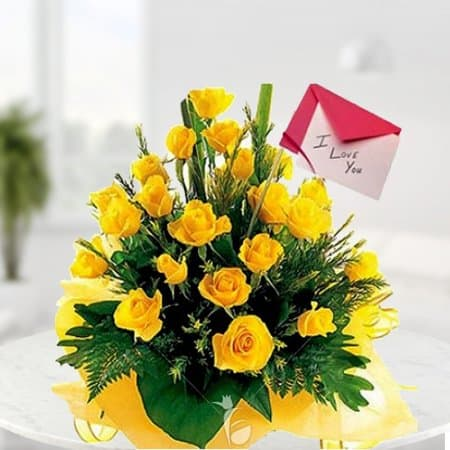 bouquet of yellow flowers boyfriend personalised gifts