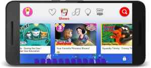 YouTube Kids - Princess Shows - with phone