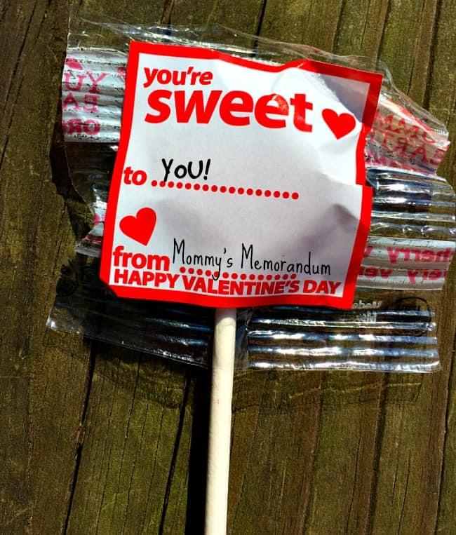 YumEart Valentine Sucker