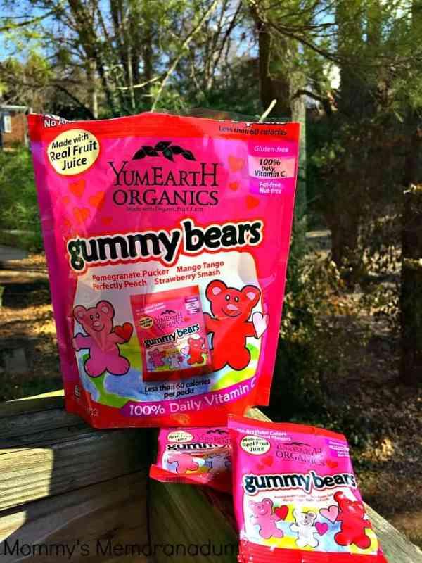 YumEarth Gummy Bears sharable Valentine's