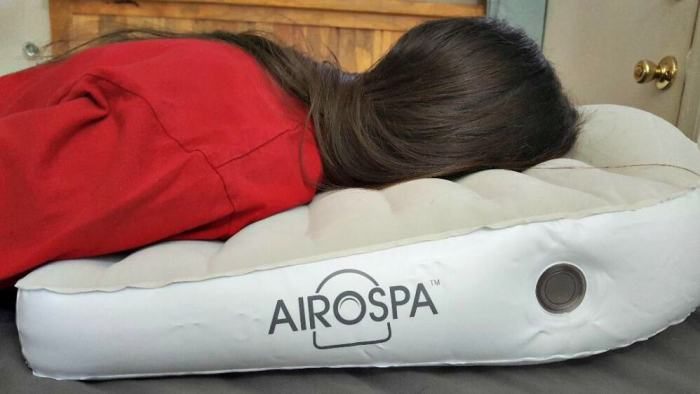 airospa pillow being used