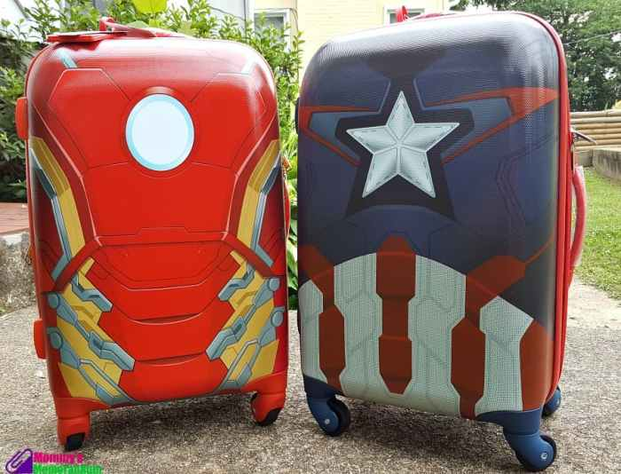 american tourister iron man and captain america