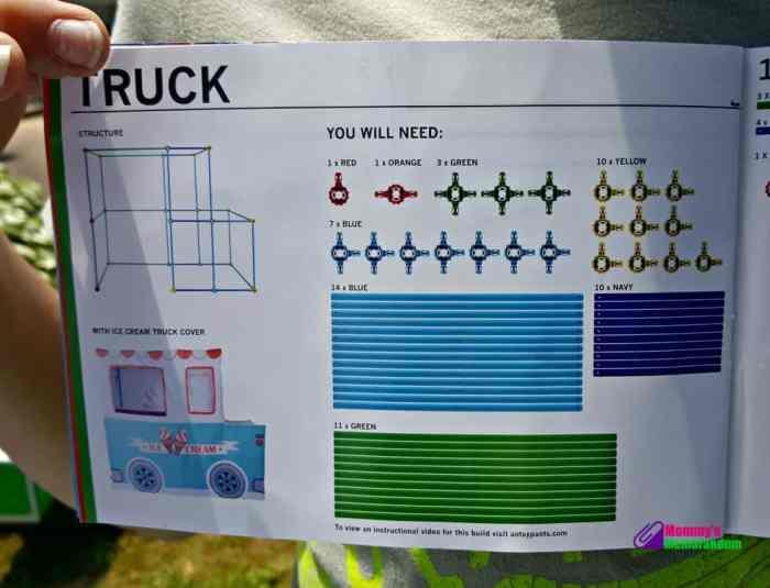 antsy pants ice cream truck instructions