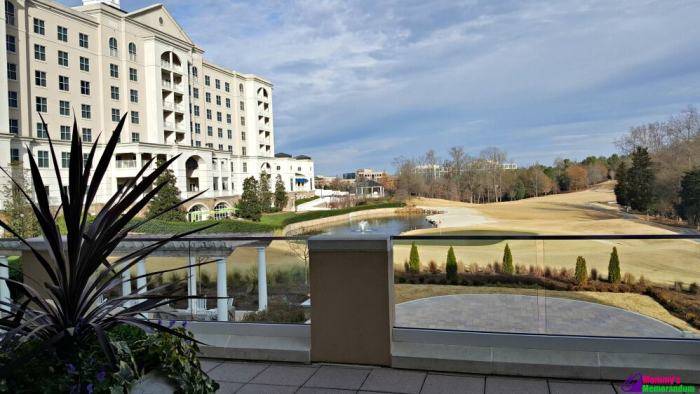 ballantyne hotel looking at golf course