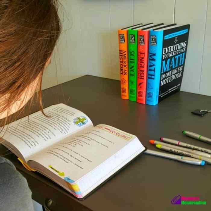 big fat notebooks resource for middle school, best ways to study