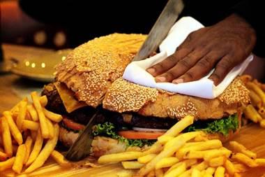 brgrs ph machete burger cut with machete