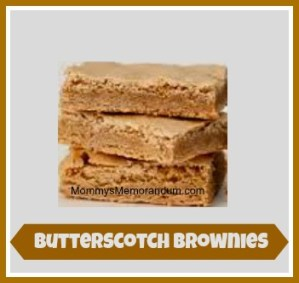Easy Butterscotch Brownies #Recipe for the Brownie Lover