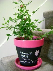 Tutorial: Chalkboard Flower Pots