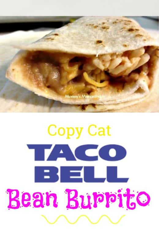 I can make Taco Bell Bean Burritos in my kitchen in less time than it takes me to go through the drive through. They taste incredibly like the real deal--though my kiddos might tell you they like the homemade version better. #tacobellbeanburritocopycat, #tacobell, #beanburrito, #popularrestaurantrecipes, #popularrestaurantrecipesyoucanmakeathome, #copycatrestaurantrecipes, #copycattacobell #copycattacobellbeanburrito, #fastfoodrecipes,