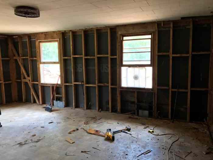 dad's house home remodel great room demolition