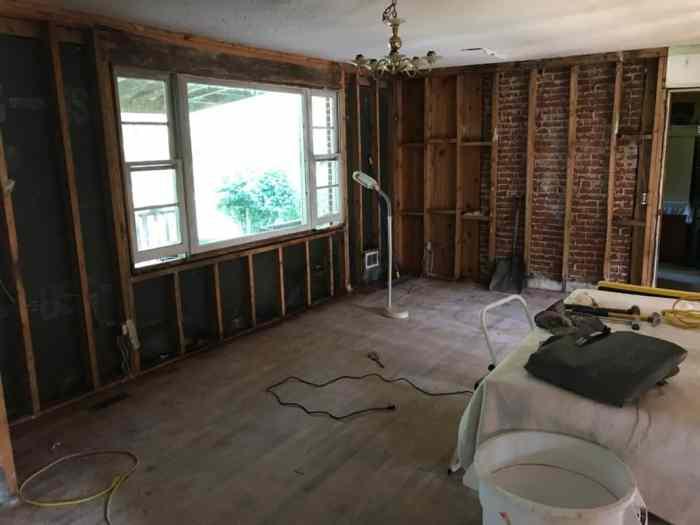 dad's house living room demolition