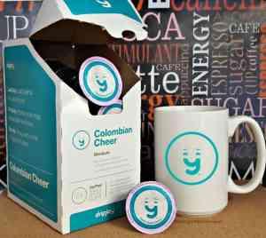 DripJoy Coffee Fill Single Cups with Coffee Joy