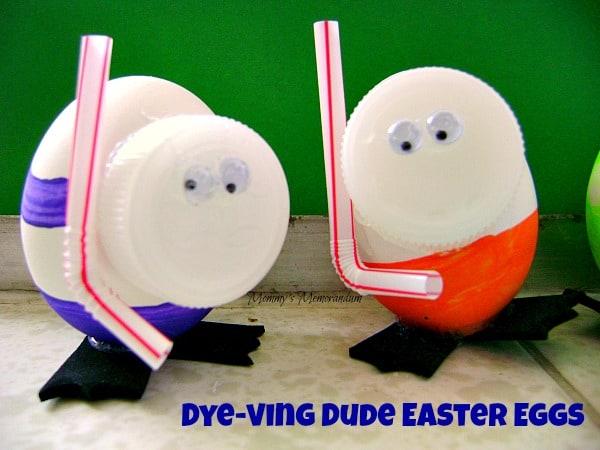 dye-ving dude easter eggs #DIY