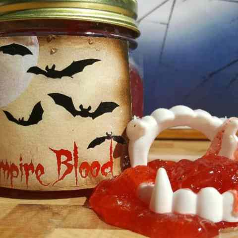 Edible Glow-In-The-Dark Vampire Blood Slime