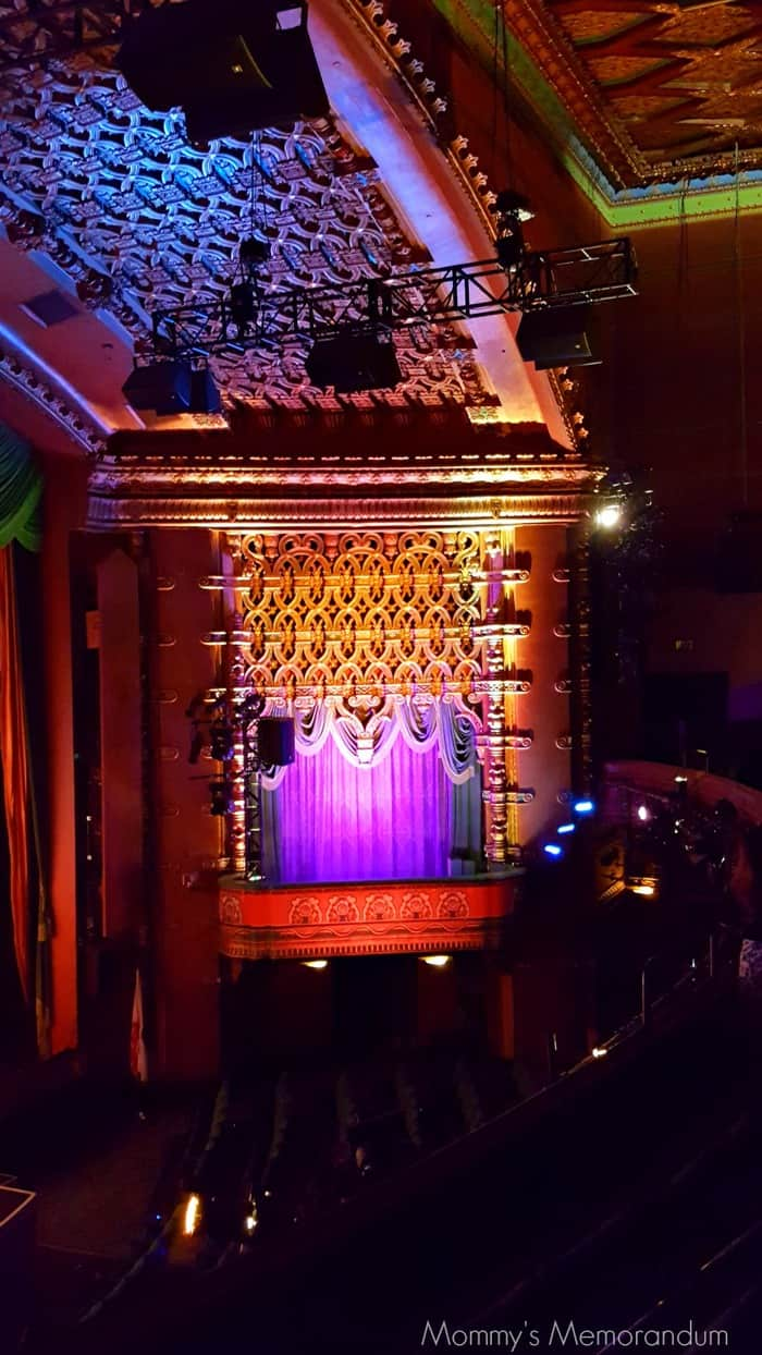 The organ that sits on stage today was the last built of its kind in the 1920s. It was originally installed at the Fox Theatre in San Francisco. The organ's over 2500 pipes are installed inside the theatre's two towers, which flank the main auditorium. A large Spencer Turbine organ blower powers the organ's performances.