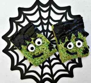 Frankenstein Rice Krispies Treats #DIY