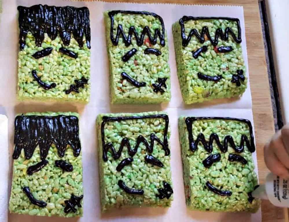 frankenstein rice krispies treats