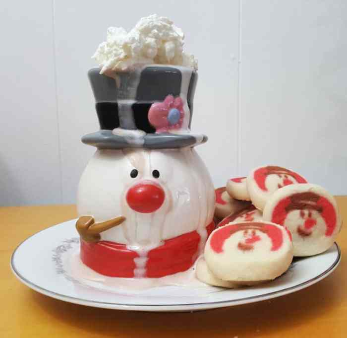 frosty the snowman sculpted ceramic mug by zak designs