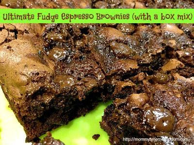 fudge espresso brownies with a box mix recipe