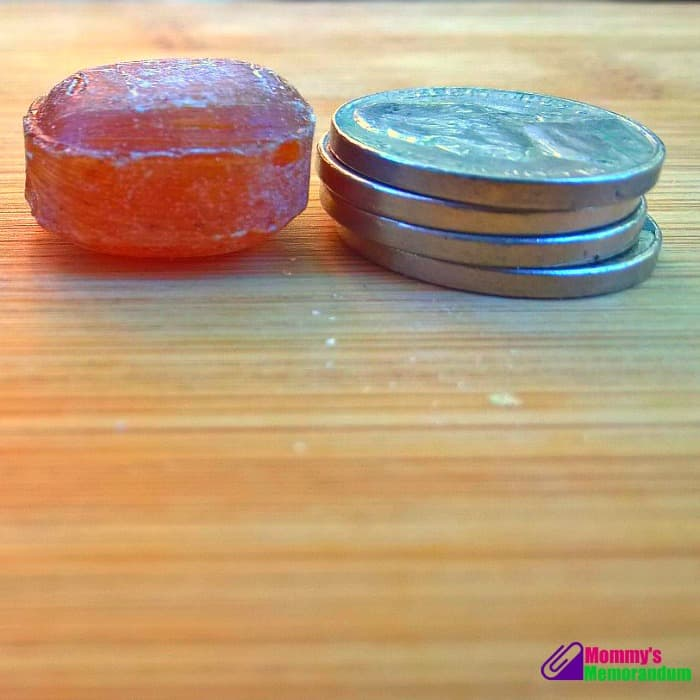 goorganic hard candy the thickness of 4 nickels