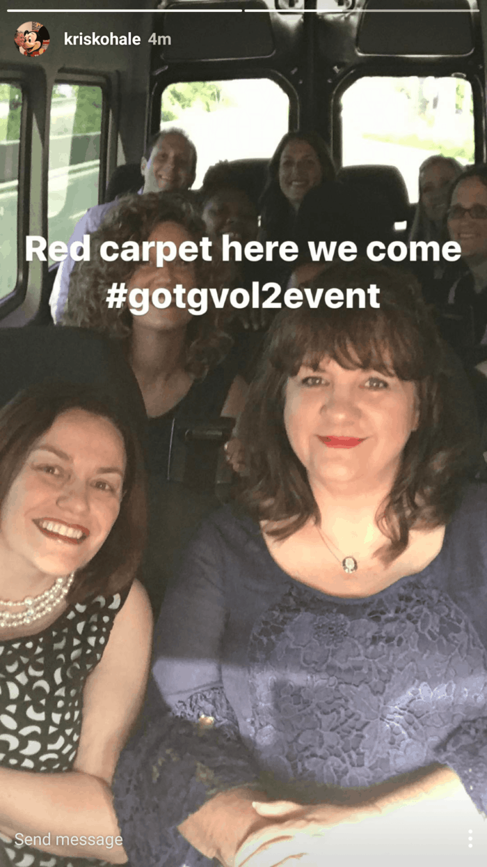 gotgvol2event on the way to red carpet