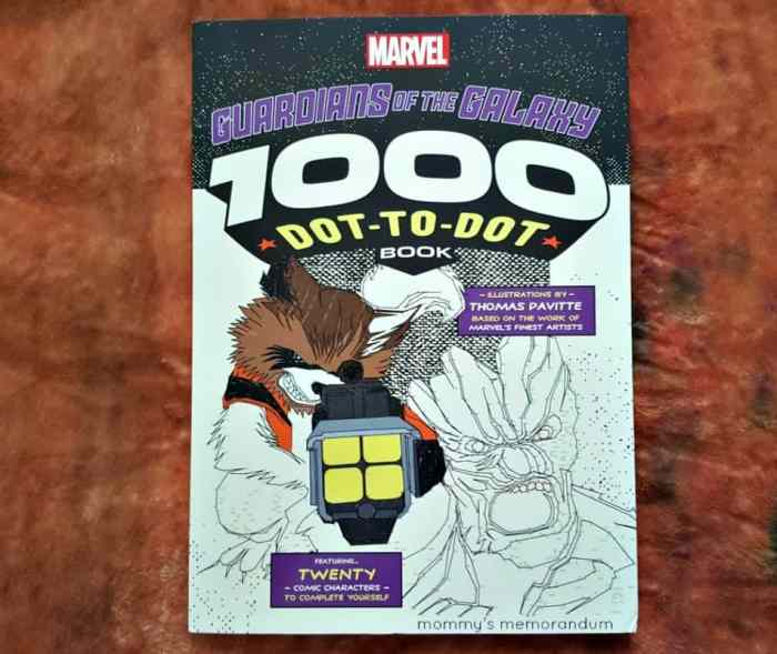 Guardians of the Galaxy 1000 Dot-to-Dot  book