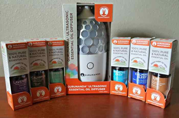 gurunanda honeycomb diffuser with essential oils for aromatherapy