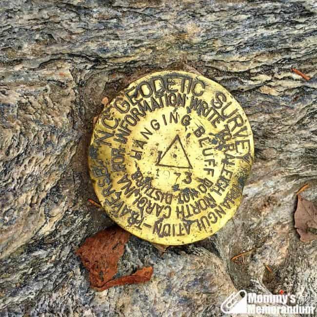 hanging rock trail survey marker