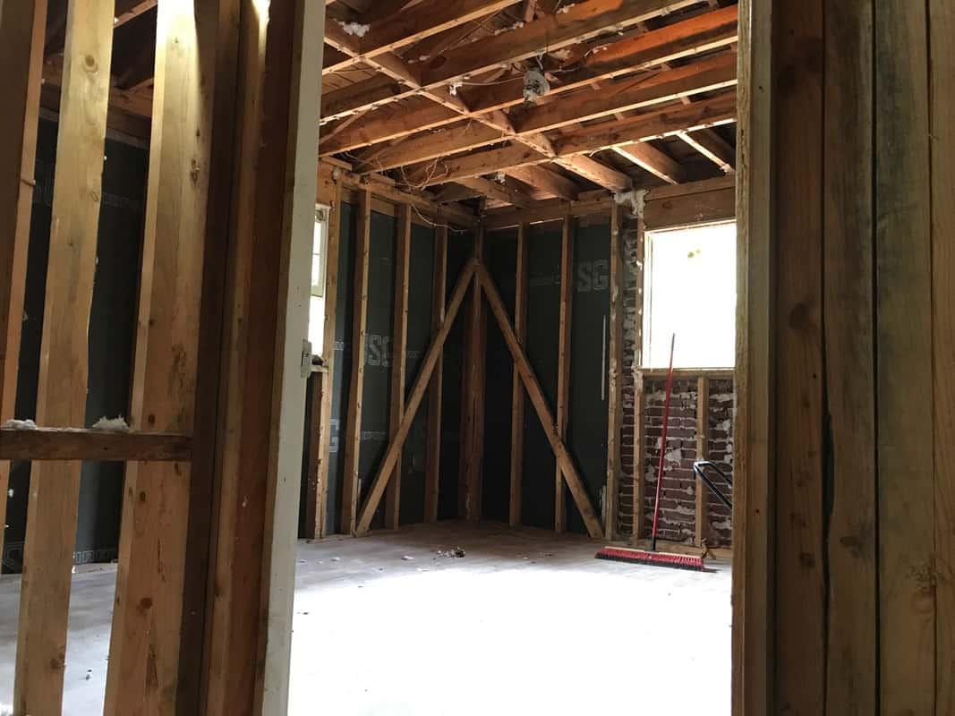 home remodel back bedroom ceiling bones