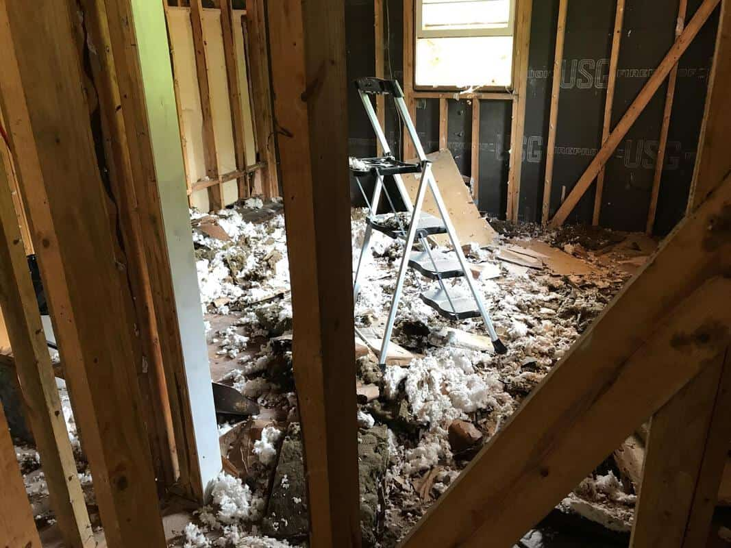 home remodel ceiling comes down