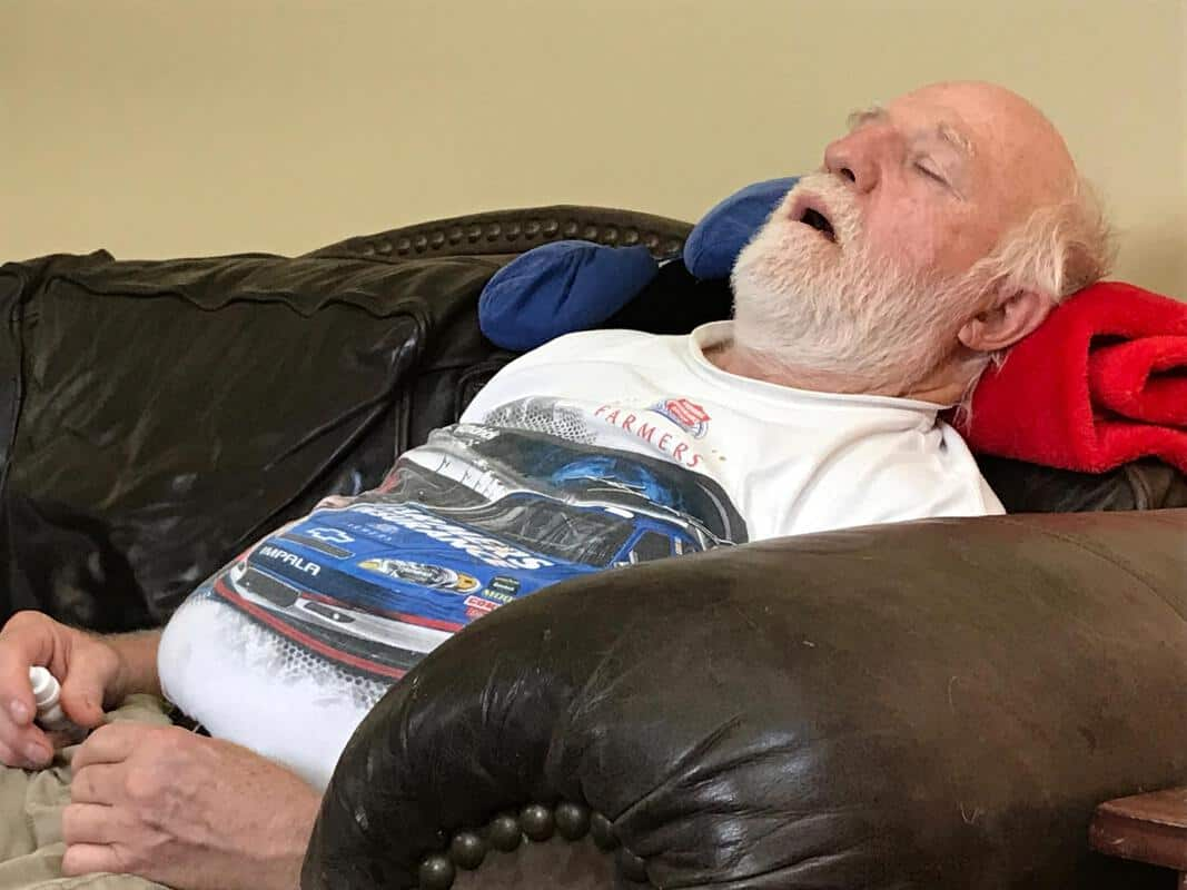 home remodel dad sleeping