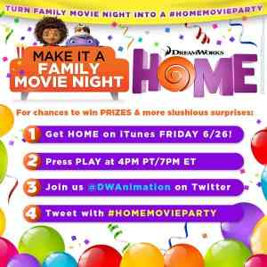 Tonight, get HOME on @iTunesMovies & tweet at the #HOMEMovieParty! #ad