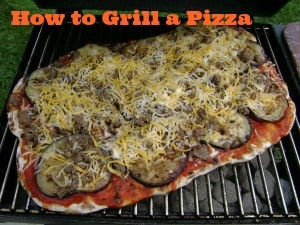 how to grill a pizza #DIY