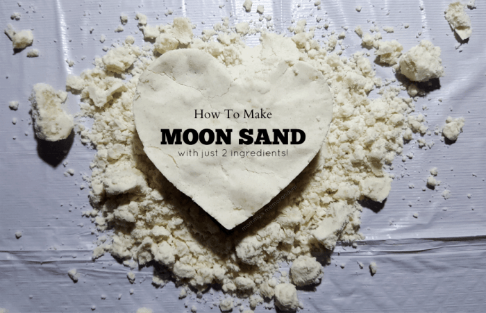 how to make moon sand with johnson and johnson baby oil