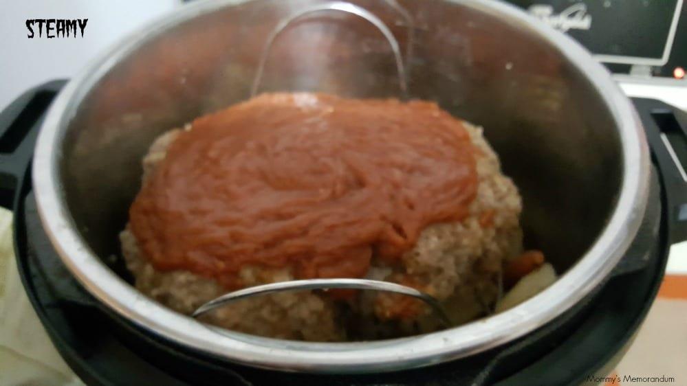 instant pot meatloaf after cooking inside the instant pot