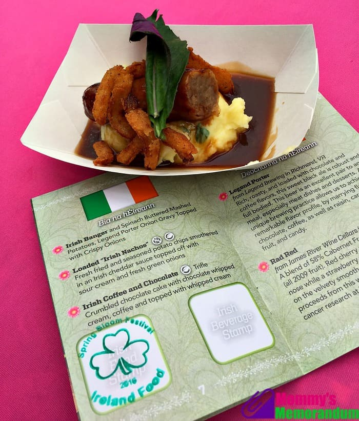 kings dominion bangers and mash ireland booth