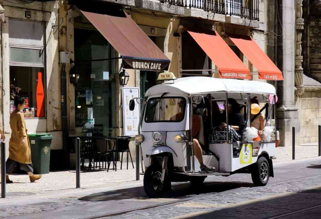 Getting around with a Tuk Tuk on a Mediterranean Island