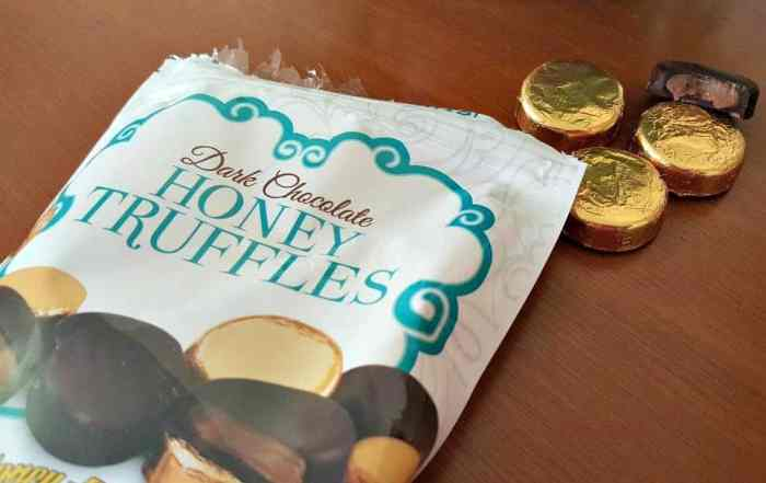 lovely candy company dark chocolate honey truffles