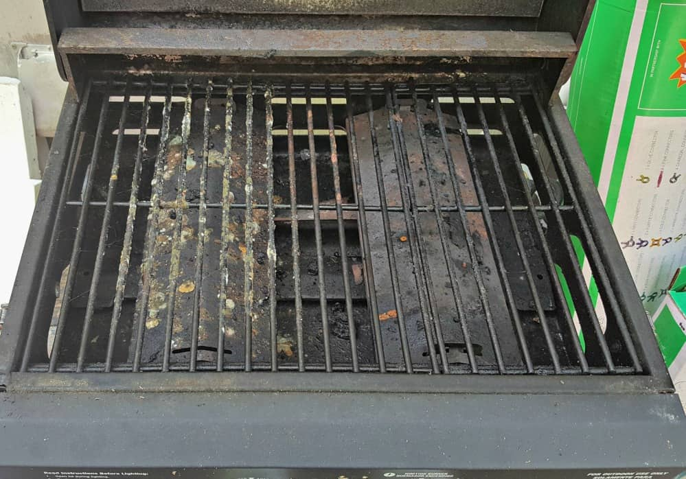 mean green auto and garage on grill the before