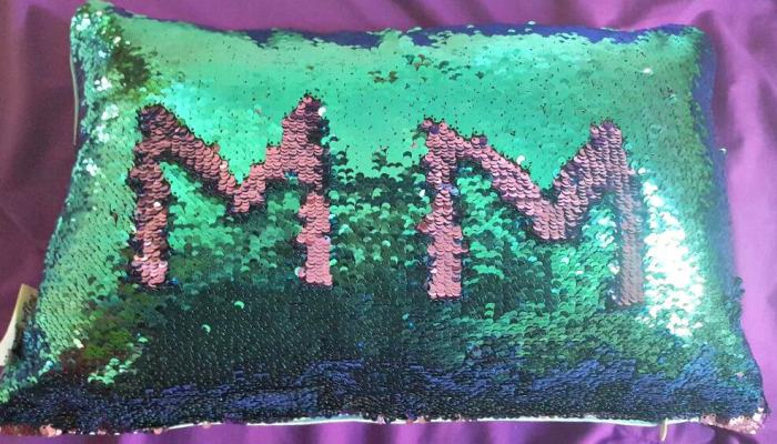 mermaid pillow from mermaid pillow with reversible sequins