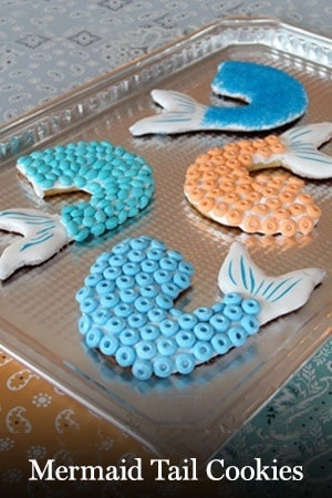 mermaid tail cookies Pirates of the Caribbean Free Printables