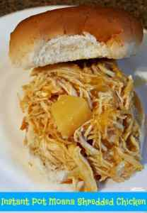 Instant Pot Moana Shredded Chicken Recipe for Sandwiches or Over Rice